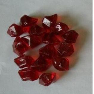 Pierre de Synthèse en fibre de verre rouge - CHEMIN'ARTE