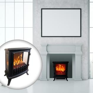 Cheminée électrique design CHEMIN'ARTE Fire Glass