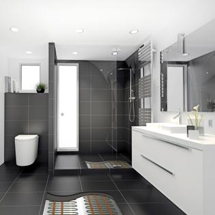 Plancher chauffant électrique intérieur - idéal salle d'eau 160W/m² - EMATRONIC