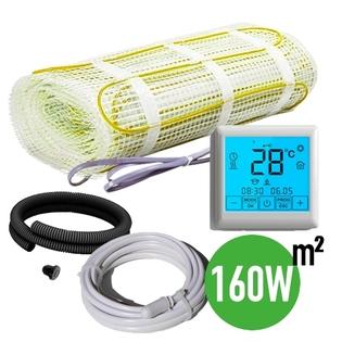 KIT complet plancher chauffant électrique intérieur - idéal salle d'eau 160W/m² - EMATRONIC