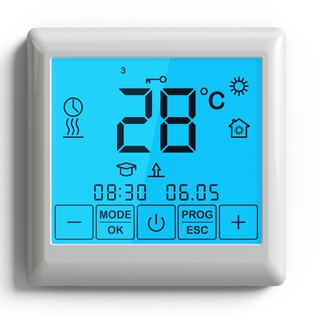 Thermostat programmable à écran tactile - plancher chauffant intérieur - EMATRONIC