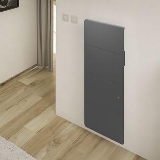 Radiateur fonte Connecté NOIROT Axiom Smart EcoControl Vertical Gris